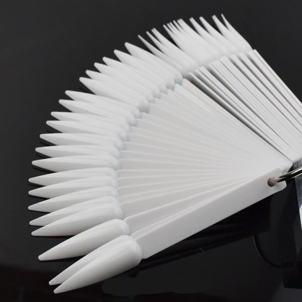JUSTNAILS Display Tips Stiletto 50Stk. weiß