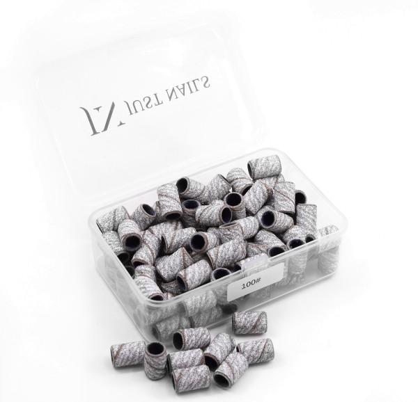 JUSTNAILS Premium Zebra Schleifkappen in Box 100 Stk.